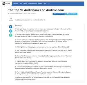 Top 10 audiobooks TTC